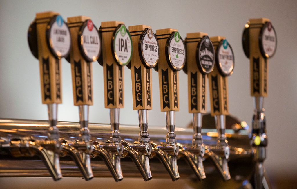 Beer taps at Taproom at Lakewood Brewing Co. on Wednesday, January 23, 2019.