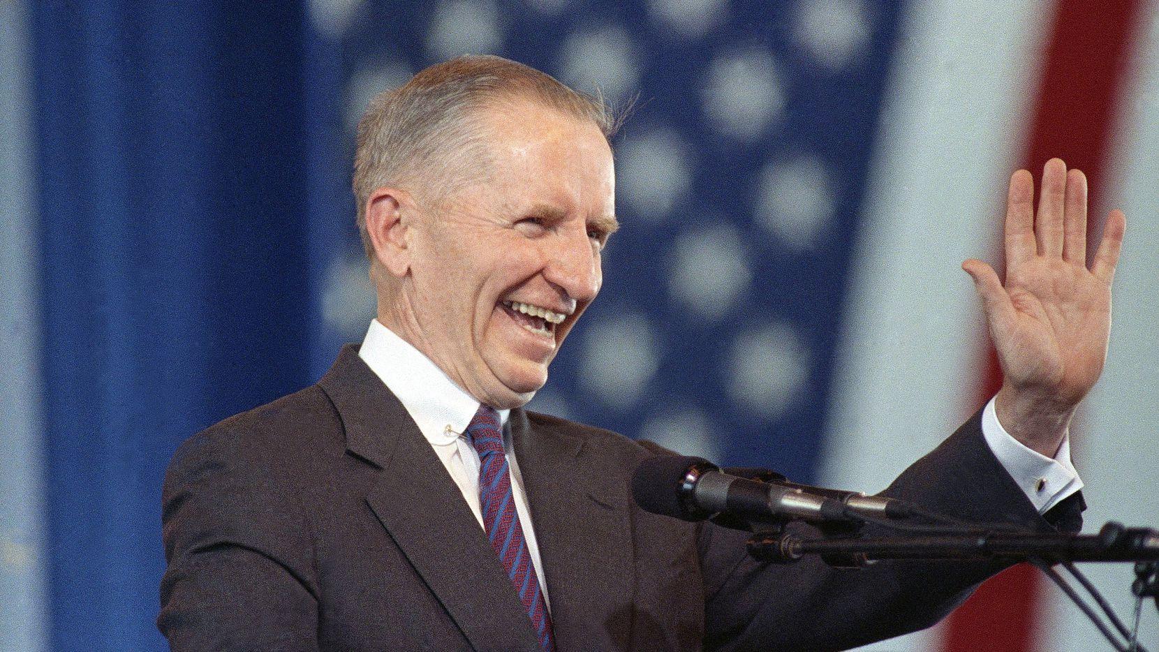 Ross Perot se postuló en dos ocasiones para la presidencia de Estados Unidos. DMN
