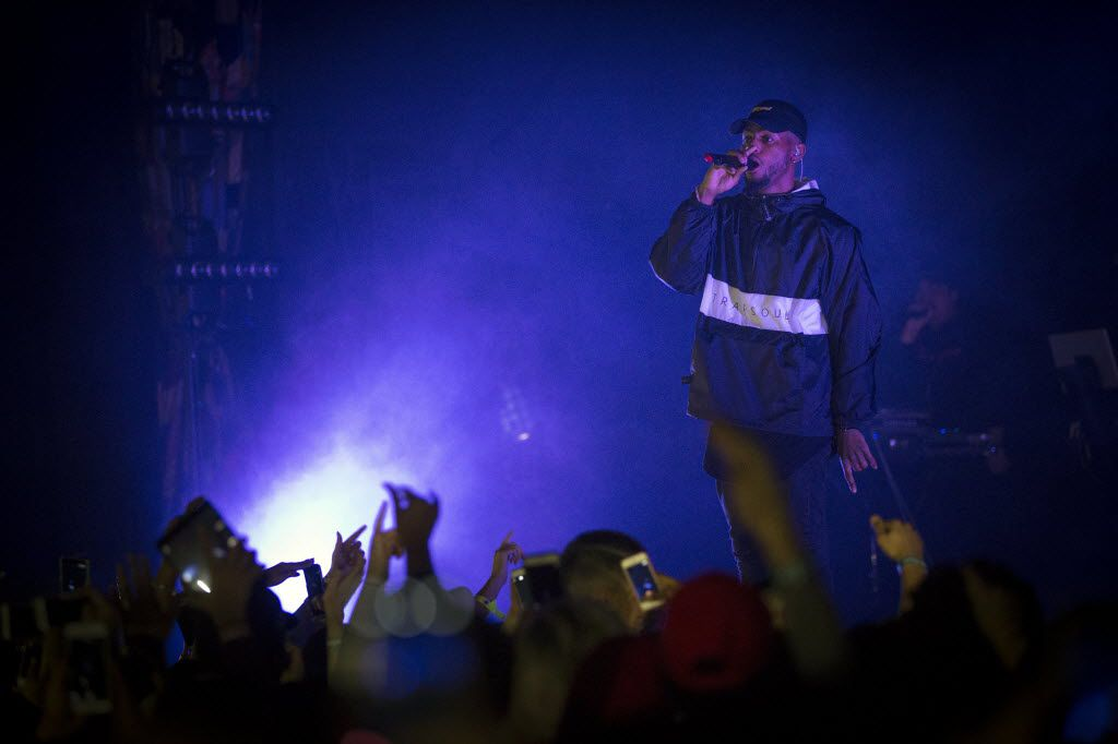 Bryson Tiller performs at the House of Blues Friday, February 5, 2016 in Dallas. (G.J. McCarthy/The Dallas Morning News)