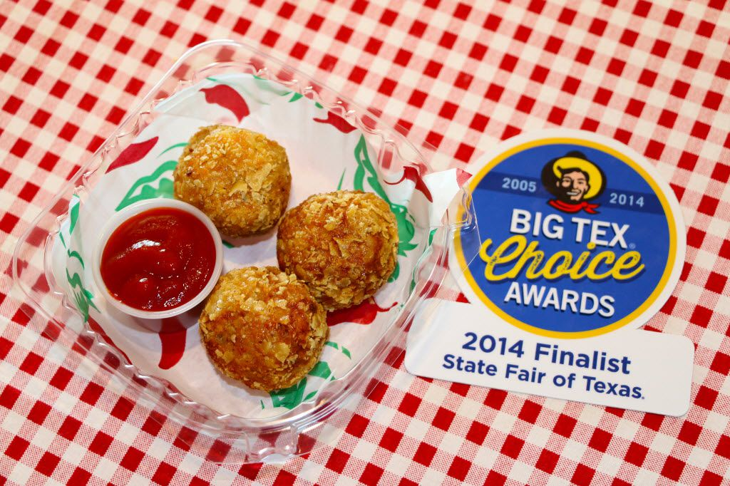 Fried Sriracha balls are a finalist in the 2014 Big Tex Choice Awards, the State Fair of Texas' annual food competition. The Fried Sriracha balls are the creation of Mark Zable.