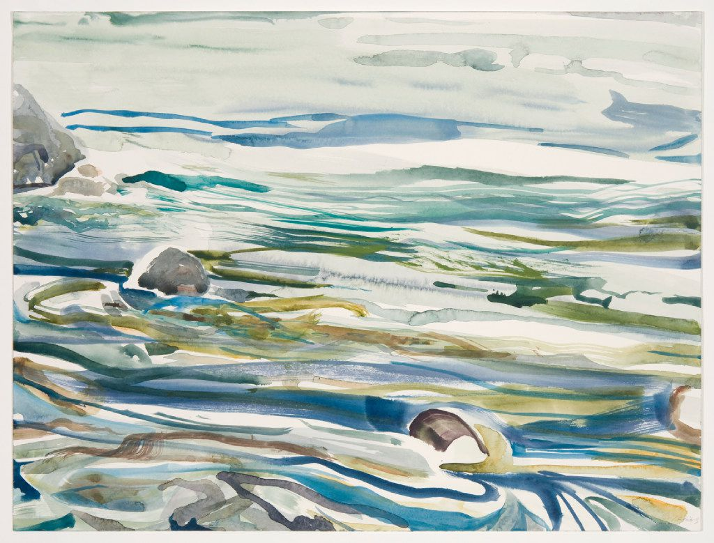 Lilian Garcia-Roig, Zen Series: Strokes, watercolor and gouache on watercolor paper, 18 x 24 inches.