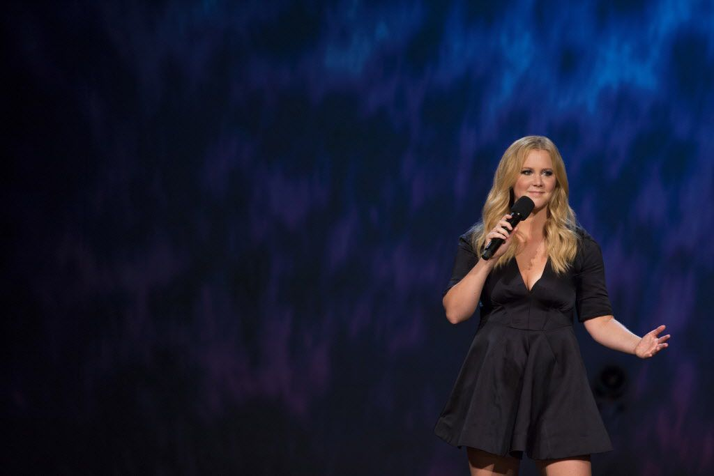 """Amy Schumer is shown in her """"Life at the Apollo"""" HBO special"""