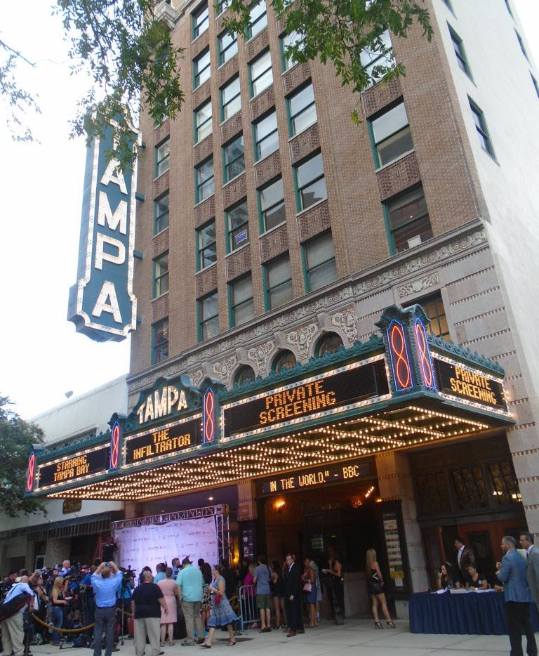The Tampa Theatre in downtown Tampa hosted the premiere of 'The Infiltrator'  in July.