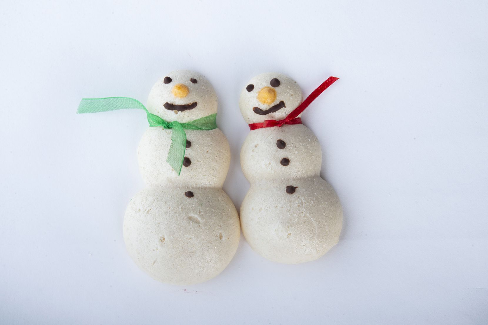 The meringue snowman cookies made by Phyllis Bustillos won third place in the special diet category.