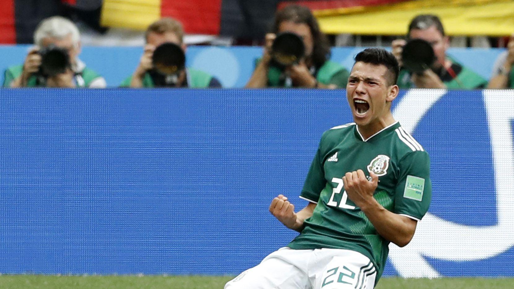 Hirving Lozano anotó el gol del Tri para el histórico triunfo ante Alemania el domingo en Moscú. (AP/Antonio Calanni)