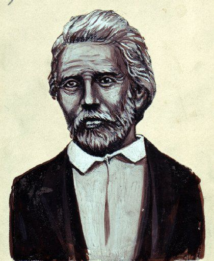 Drawing of John Neely Bryan, founder of Dallas.