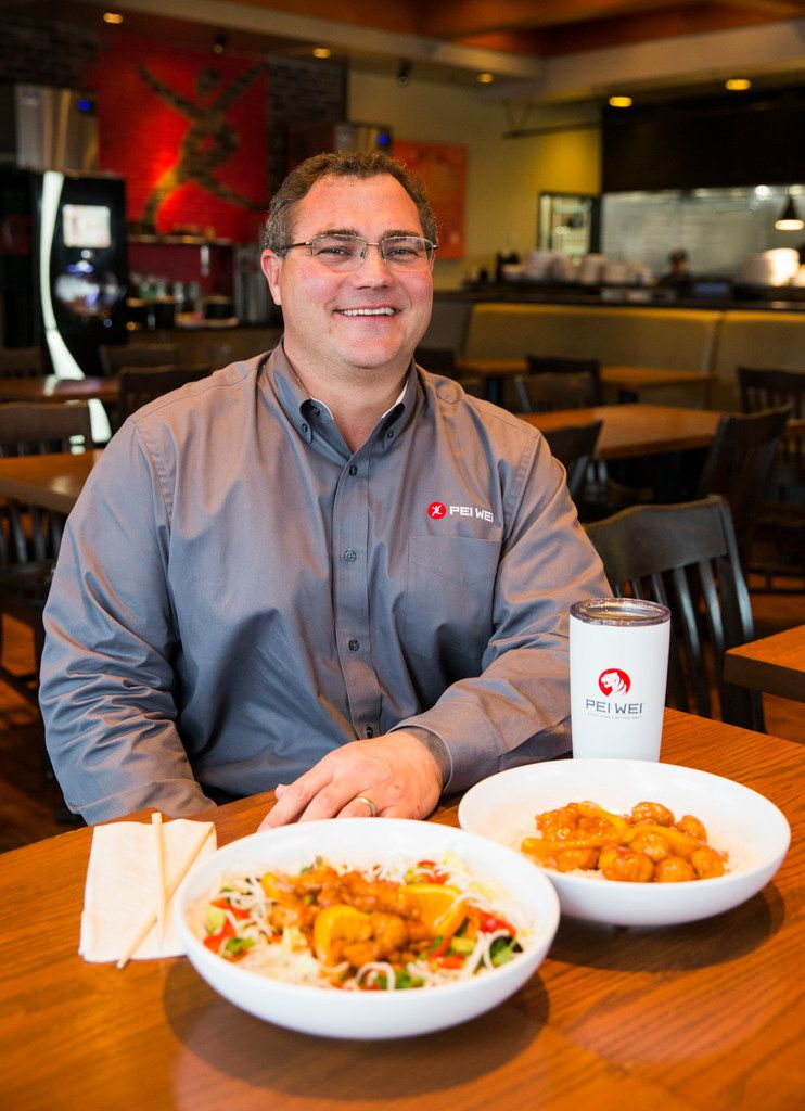 """We want it to be good enough to feed our friends and families — and we do,"" says CEO John ""J."" Hedrick of Pei Wei's food. He's behind the launch of the new $5 orange chicken, which he believes will be a major moment for the Irving-based company."