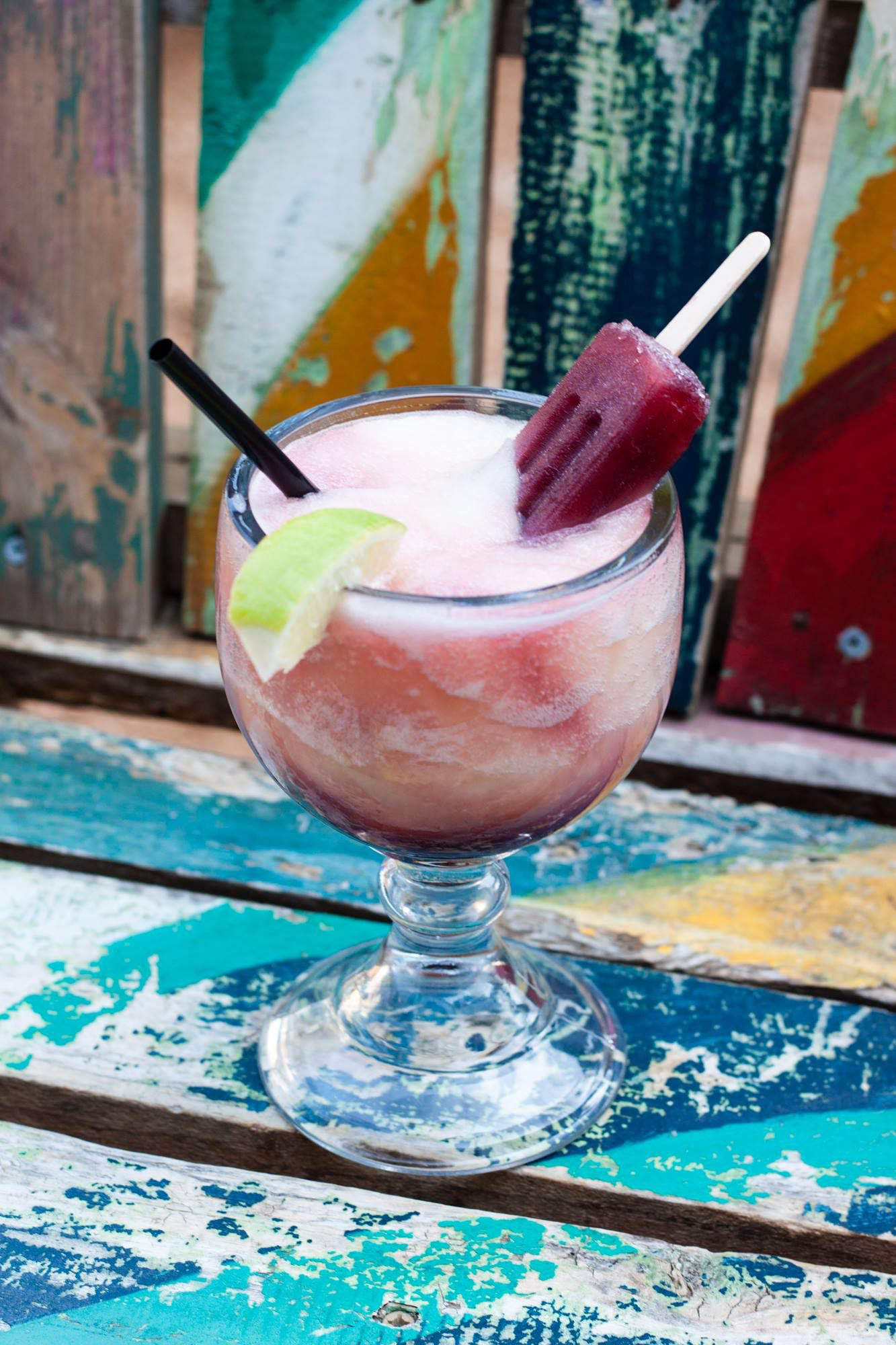 Sangria Swirl margarita with boozy Popsicle
