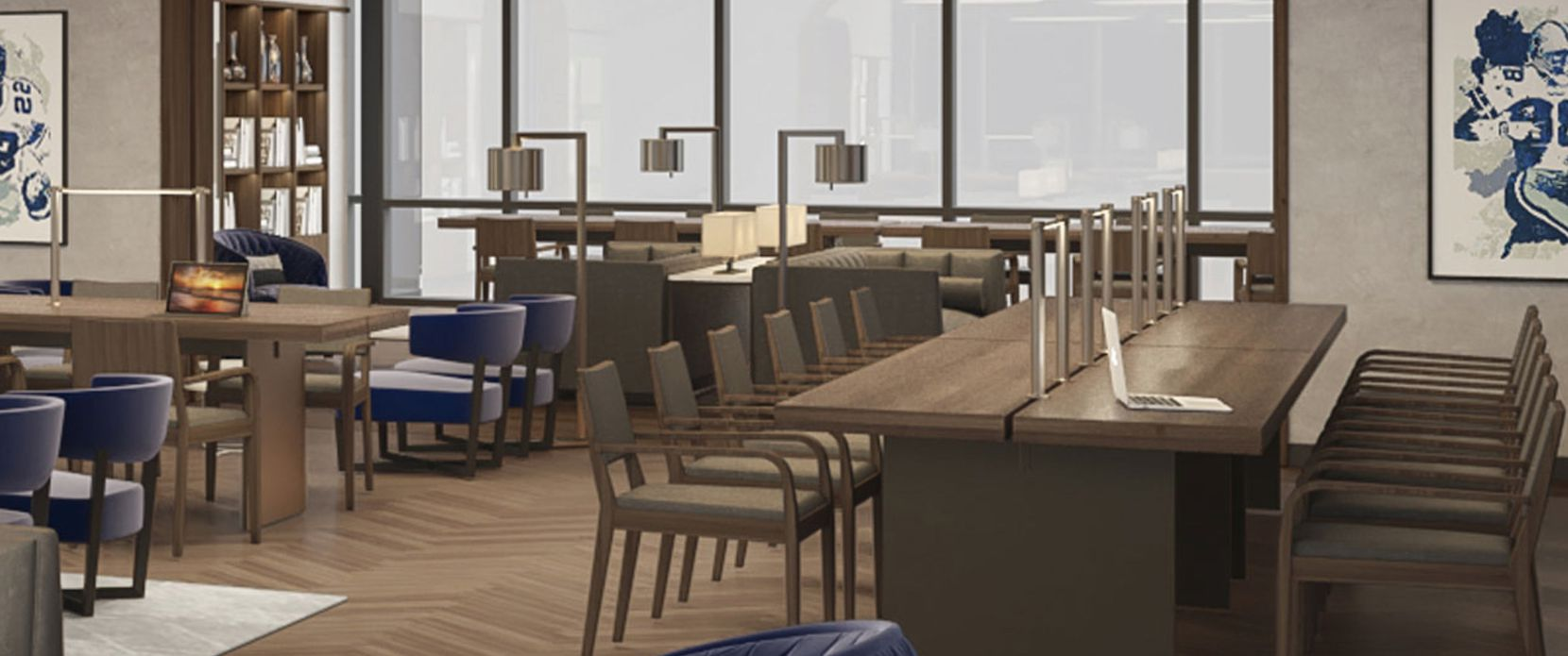 A digital rendering of plans for the Dallas Cowboys' new Formation shared office center at The Star in Frisco