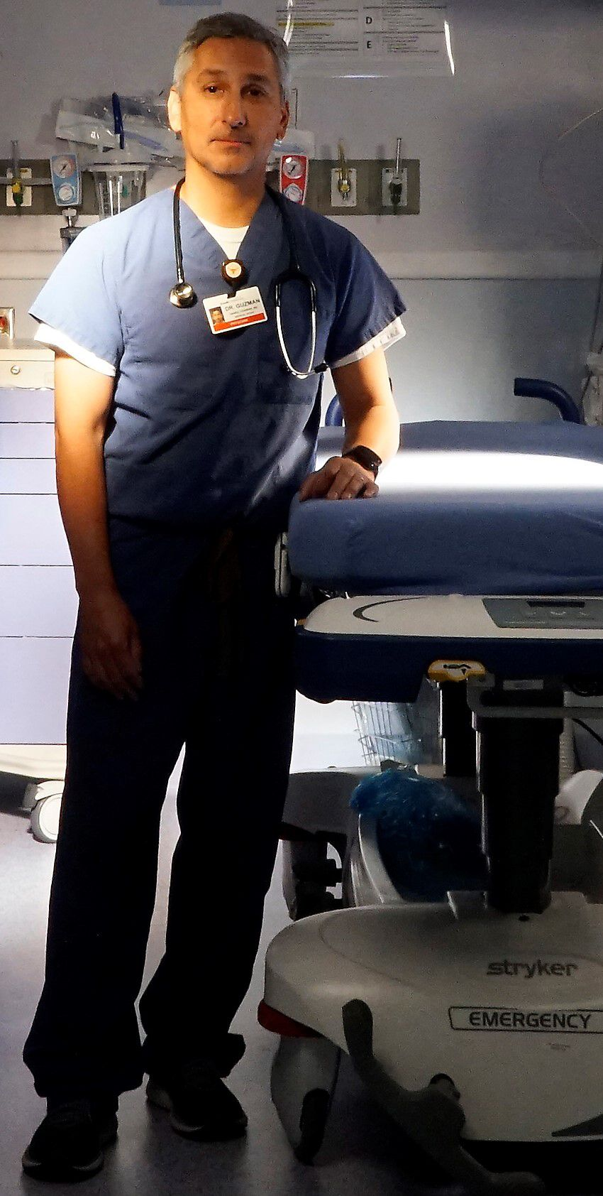 """Dr. Daniel Guzman, a physician at Cook Children's, created the hospital's """"Aim for Safety"""" program."""