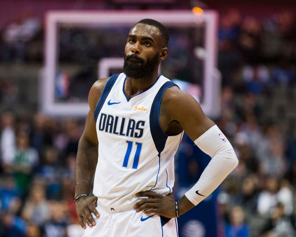 Dallas Mavericks guard Tim Hardaway Jr. (11) reacts to losing to the New Orleans Pelicans 129-125 in overtime of an NBA game between the Dallas Mavericks and the New Orleans Pelicans on Monday, March 18, 2019 at American Airlines Center in Dallas. (Ashley Landis/The Dallas Morning News)