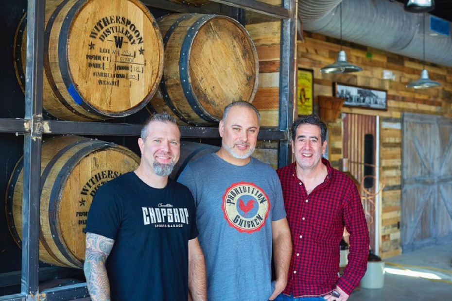 Prohibition Chicken's owners are, from left, Sean Clavir, Josh Babb and chef Roger Kaplan.