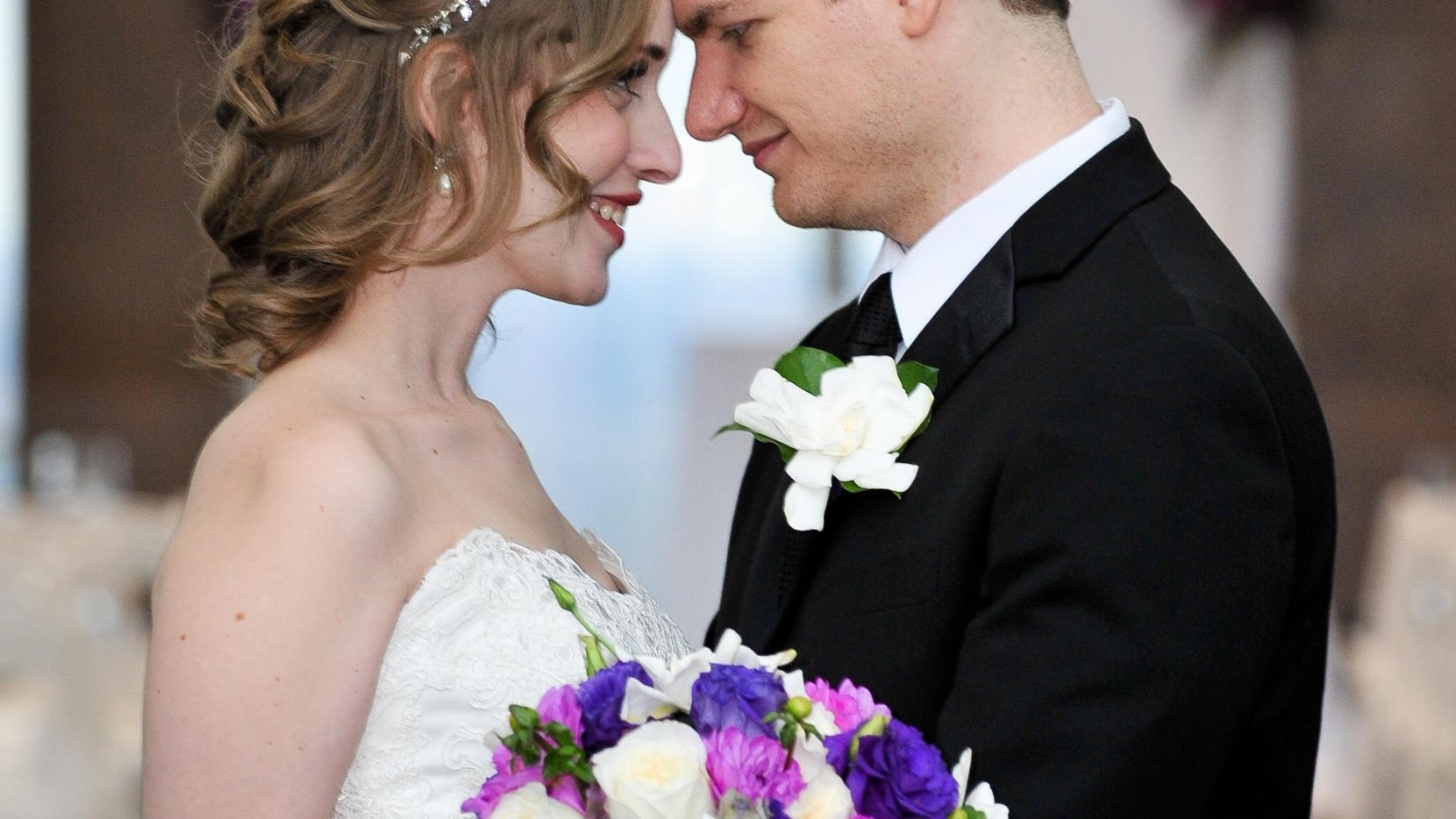 Neely and Andrew Moldovan at their wedding in October 2014.