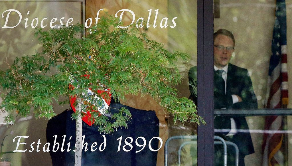 "Law enforcement officials conducted a raid of the Catholic Diocese of Dallas on Wednesday, May 15, 2019. Dallas police on Wednesday morning raided several Dallas Catholic Diocese offices after a detective said church officials have ""thwarted"" his investigations into allegations of sexual abuse by priests. Dallas Bishop Edward J. Burns said at an afternoon news conference that the diocese had given personnel files ""for all the priests named in the warrant"" and had been has been cooperating with the police requests. (Tom Fox/The Dallas Morning News)"
