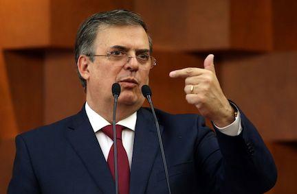 El canciller de México Marcelo Ebrard. AGENCIA REFORMA.