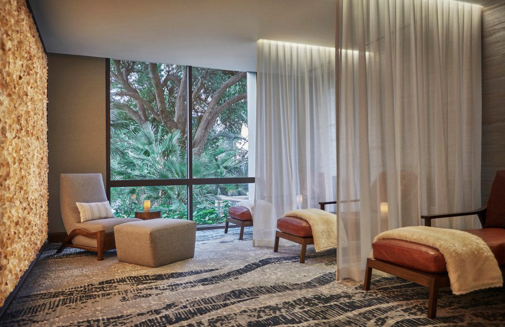 Relaxation Lounge of the newly remodeled Four Seasons Austin