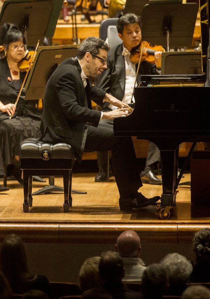 Pianist Jonathan Biss performs Beethoven's Piano Concerto No. 2 with the Dallas Symphony Orchestra and guest conductor Miguel Harth-Bedoya at Meyerson Symphony Center in Dallas on Nov. 1, 2018.