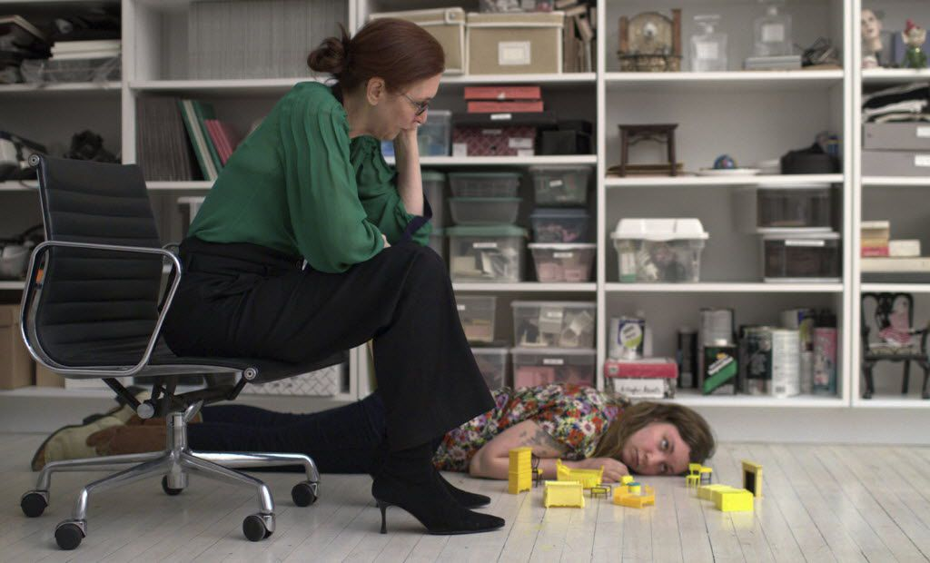Artist Laurie Simmons (left) with her daughter, writer and director Lena Dunham (right), in Dunham's 2010 debut film 'Tiny Furniture' that was heavily based on their real lives.