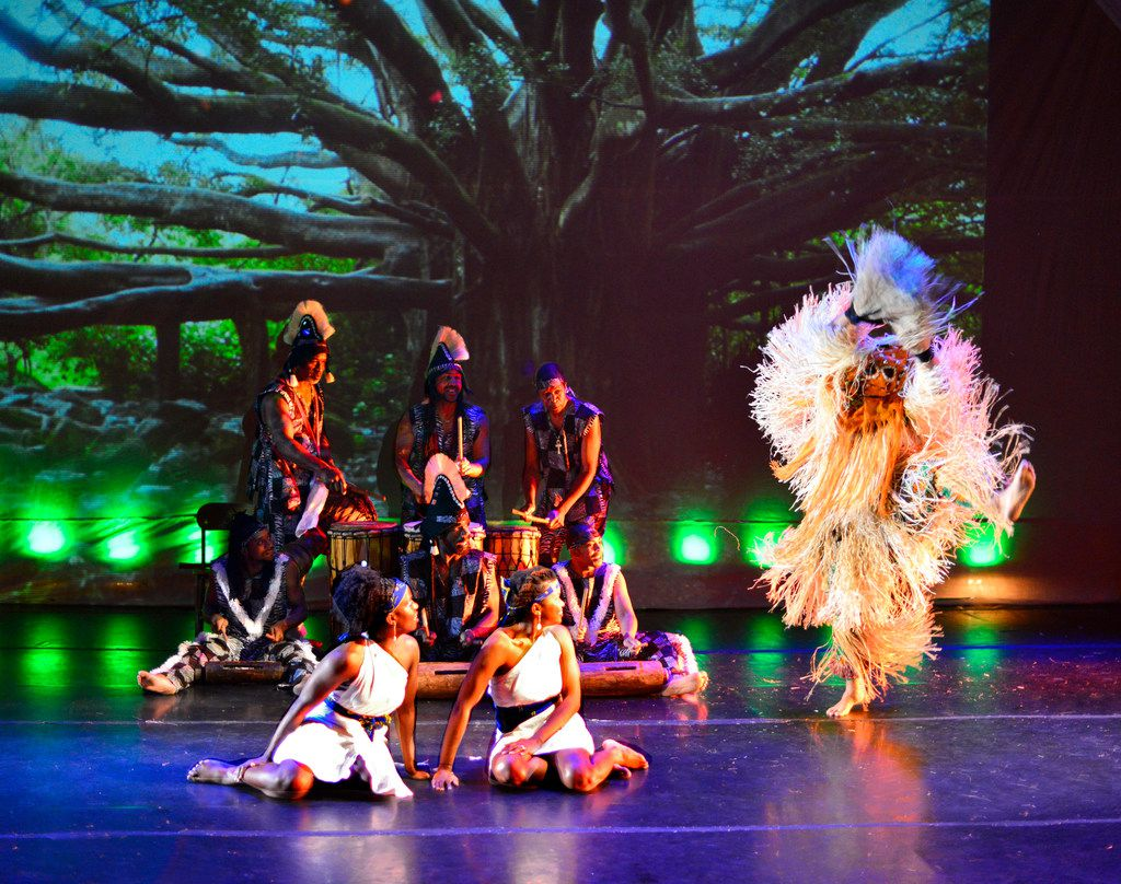 Bandan Koro is in the midst of its first theater season, bringing narrative storytelling to their performances of traditional West African music and dance. Photo courtesy of Bandan Koro.