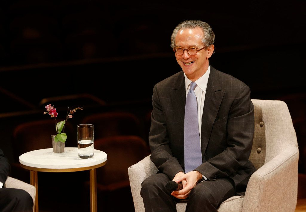Fabio Luisi, the new music director-designate for the Dallas Symphony Orchestra, laughed after answering a question during a  news conference at the Morton H. Meyerson Symphony Center on June 4, 2018.