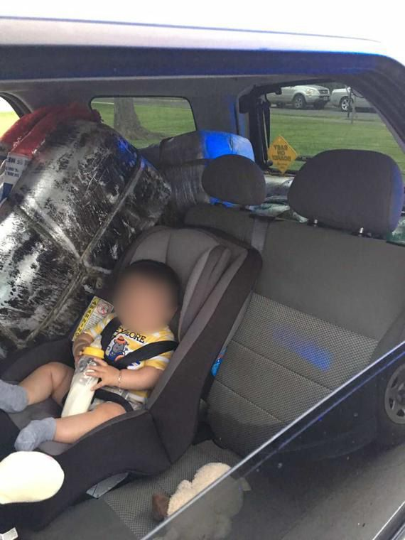 In a Ford Escape driven by Ashley Resendiz, authorities found a baby in a car seat next to a bundle of narcotics, according to a federal criminal complaint.