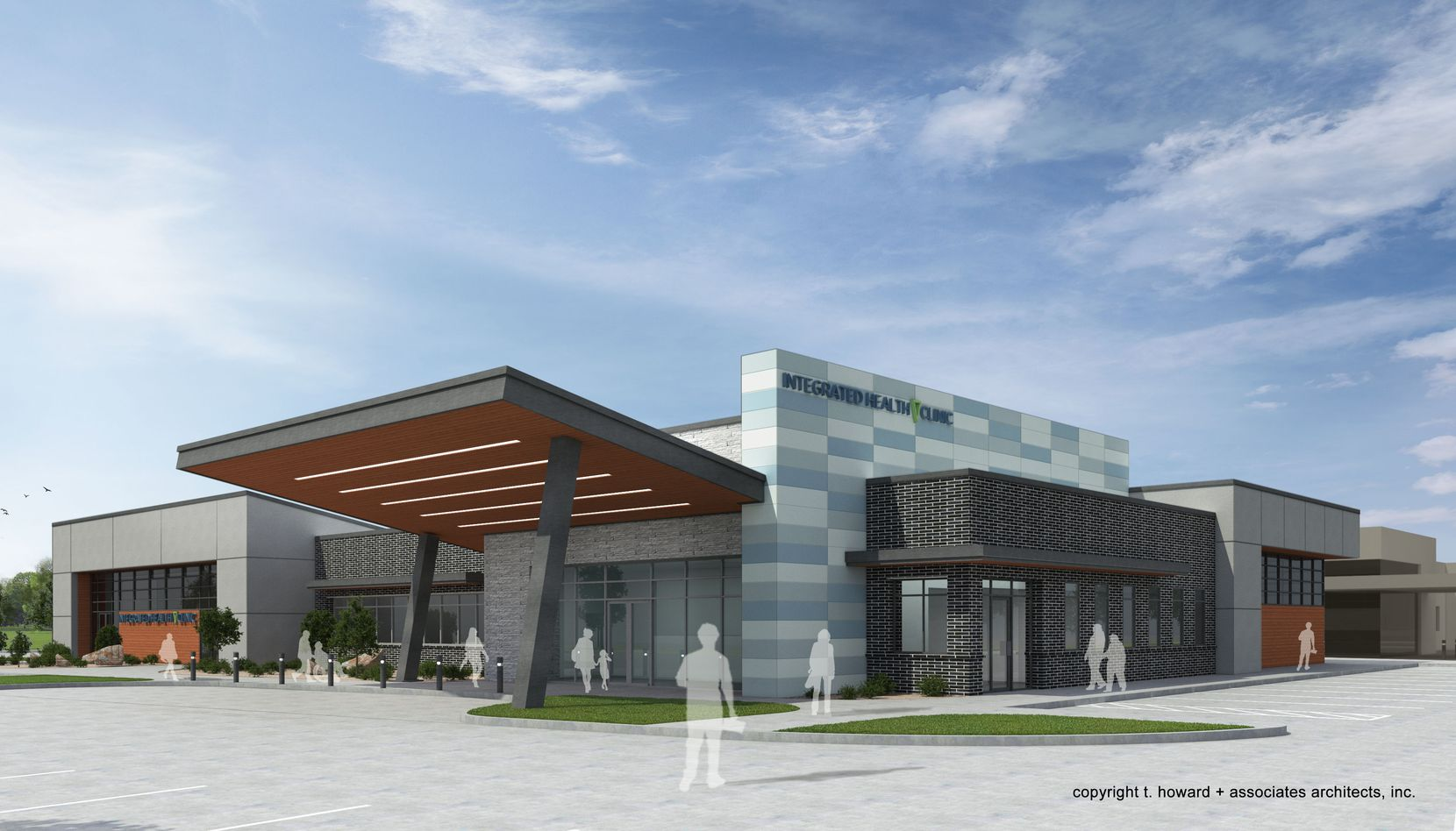 T. Howard+Associates' rendering of a new health clinic for southern Dallas.