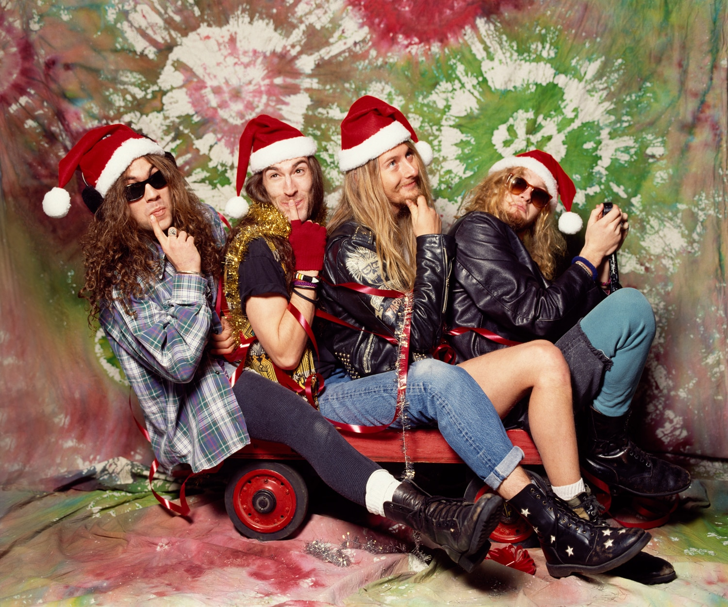 Members of Alice in Chains got into the holiday spirit in a photo shoot with Karen Mason Blair.