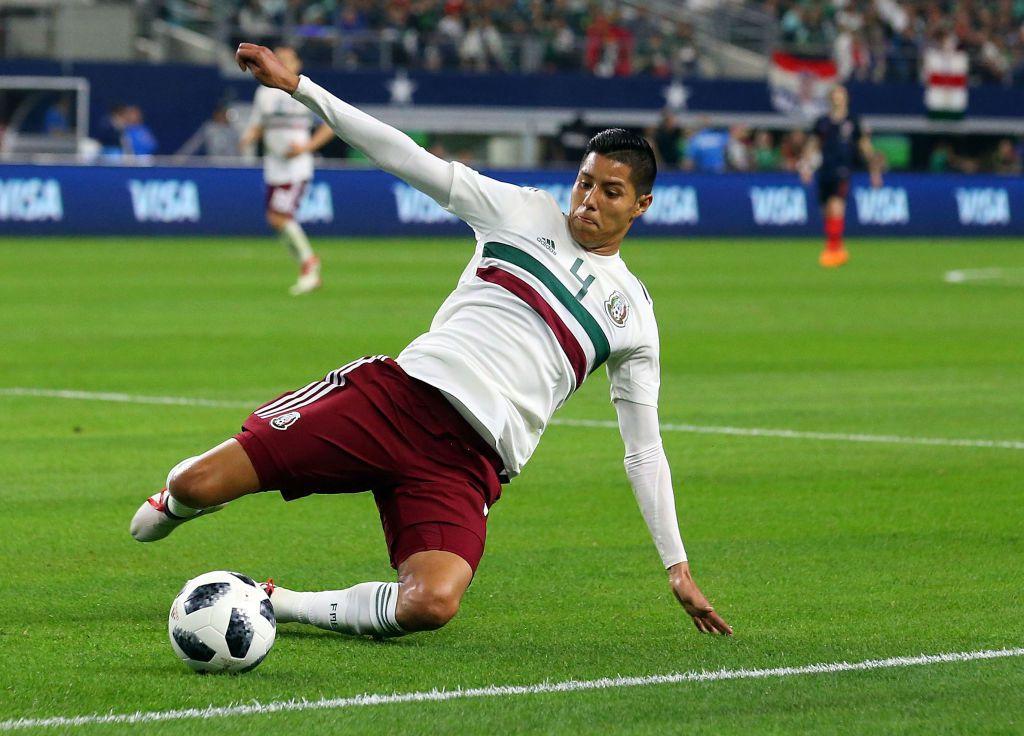 Hugo Ayala fue uno de los jugadores de la selección Mexicana que jugó en el AT&T Stadium el 27 de marzo, en preparación al Mundial de Rusia 2018. (Richard Rodriguez/Getty Images)