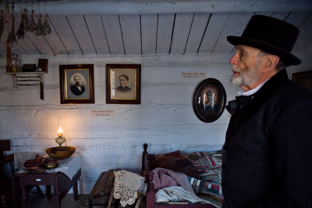 Stevens Nelson, the director of the Provo Pioneer Village, gives a tour of the open-air historical attraction.