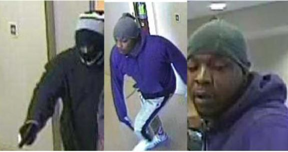 Camera footage shows two suspects who robbed a Capitol One bank on Wednesday and escaped with an unknown amount of money.