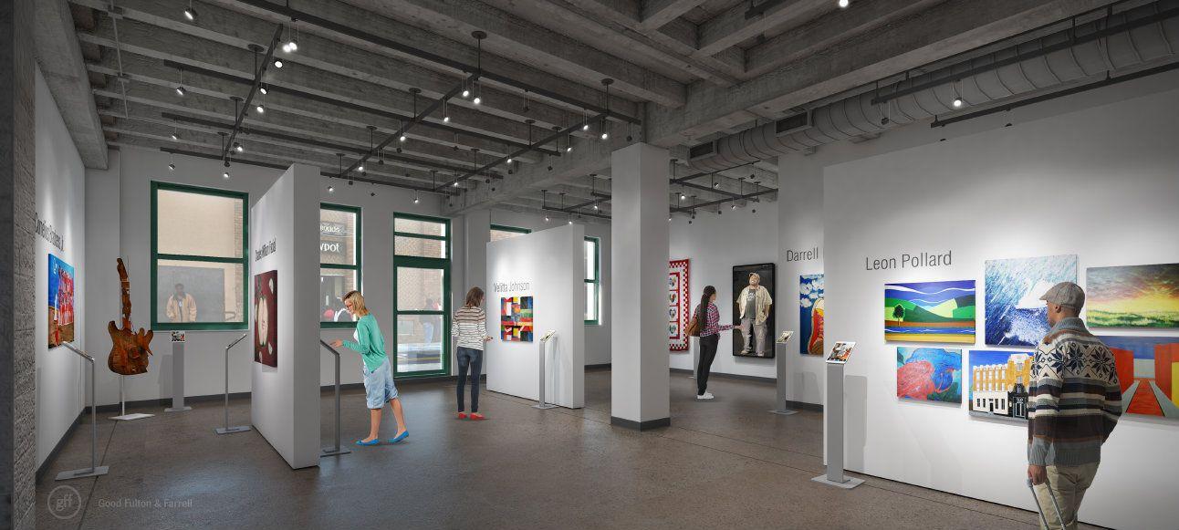 The art gallery at 508 Park Avenue (Courtesy Encore Park/Good Fulton & Farrell)