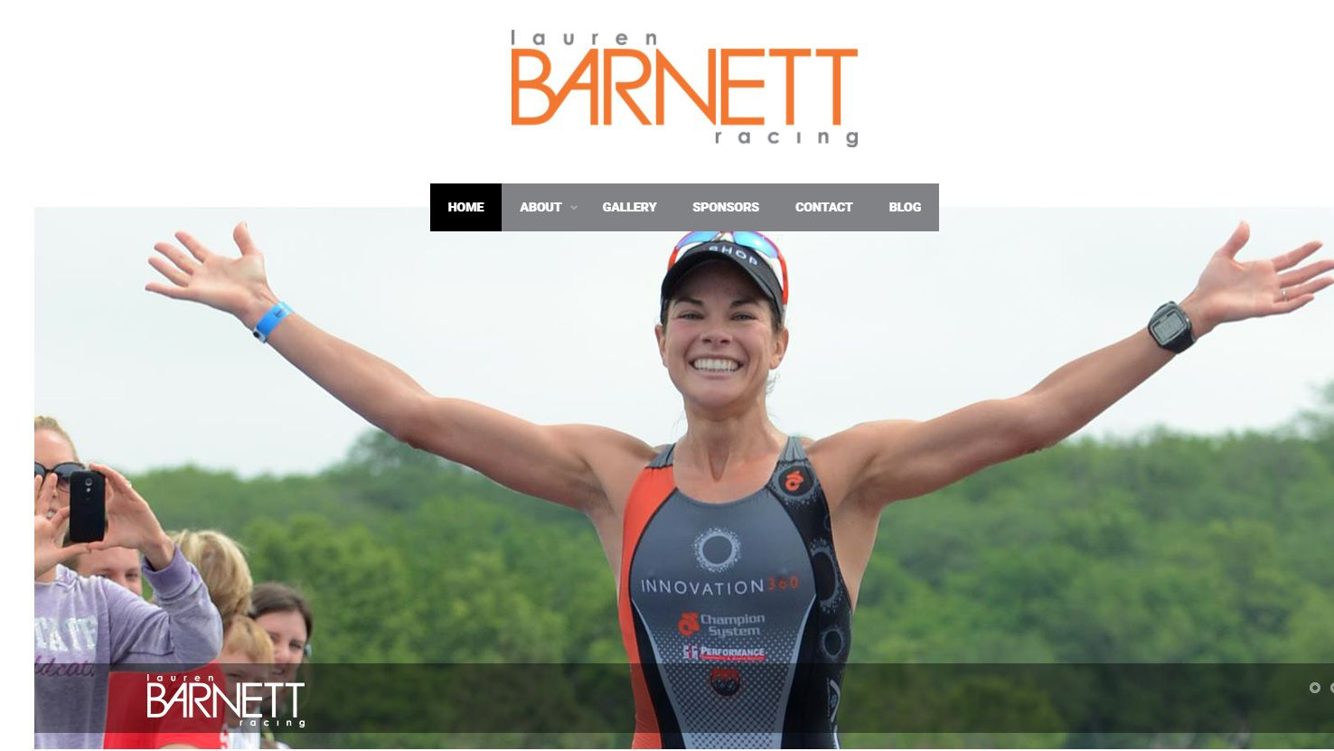 Screen grab from Lauren Barnett's website. The professional triathlete tested positive for a banned substance after winning a 2016 Ironman competition and on Dec. 4 filed a lawsuit against the Dallas-based company that manufacturers a supplement she took before the race
