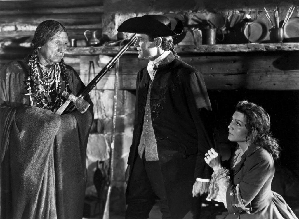 Chief John Big Tree, Henry Fonda and Claudette Colbert in Drums Along the Mohawk (1939)