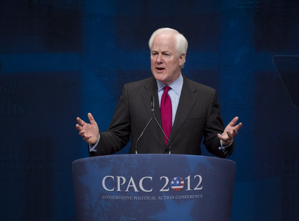 Sen. John Cornyn, R-Texas, criticized then-U.S. Attorney General Eric Holder as he spoke at the 2012 Conservative Political Action Conference in Washington.