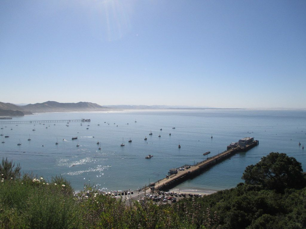 Views of Avila Beach's pier are seen from free guided hikes up Pecho Coast Trail at Port San Luis.