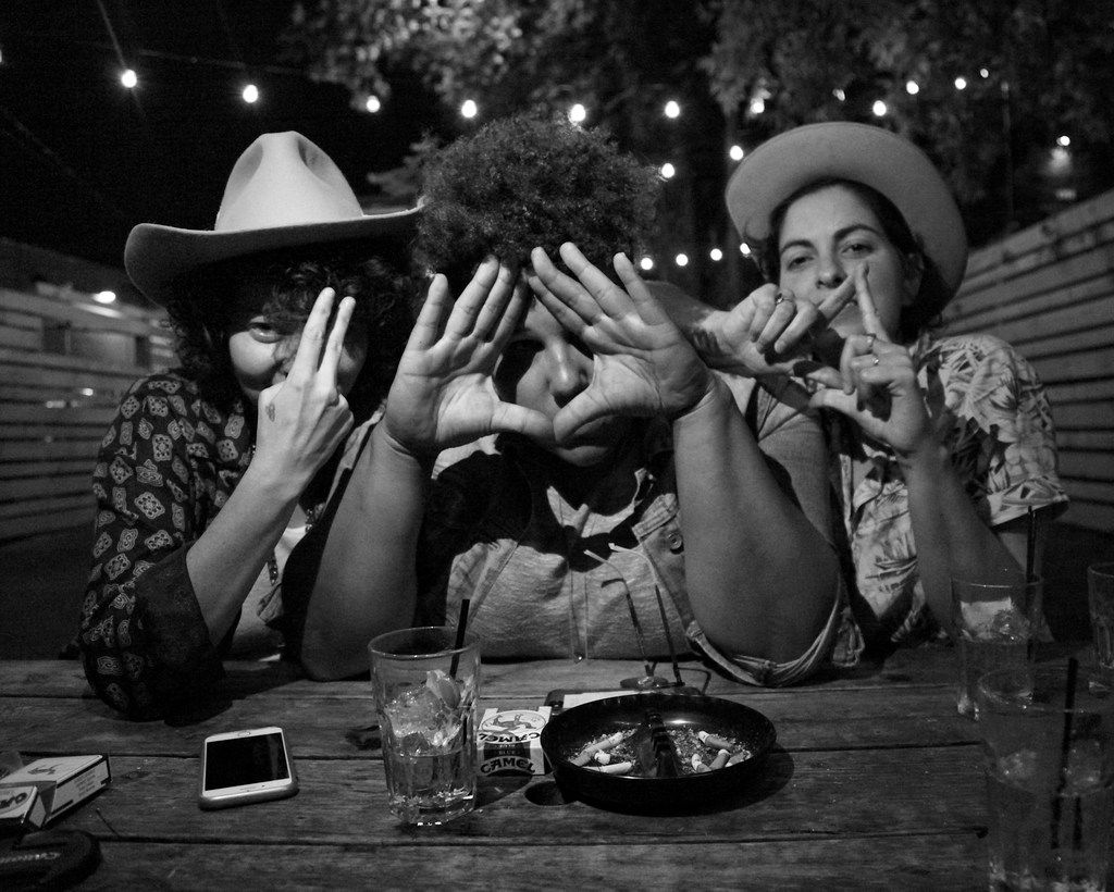 Bermuda Triangle is a new band out of Nashville featuring musicians Jesse Lafser (left), Brittany Howard of Alabama Shakes, and Becca Mancari. The band makes its Dallas debut at Kessler Theater on April 6, 2018.