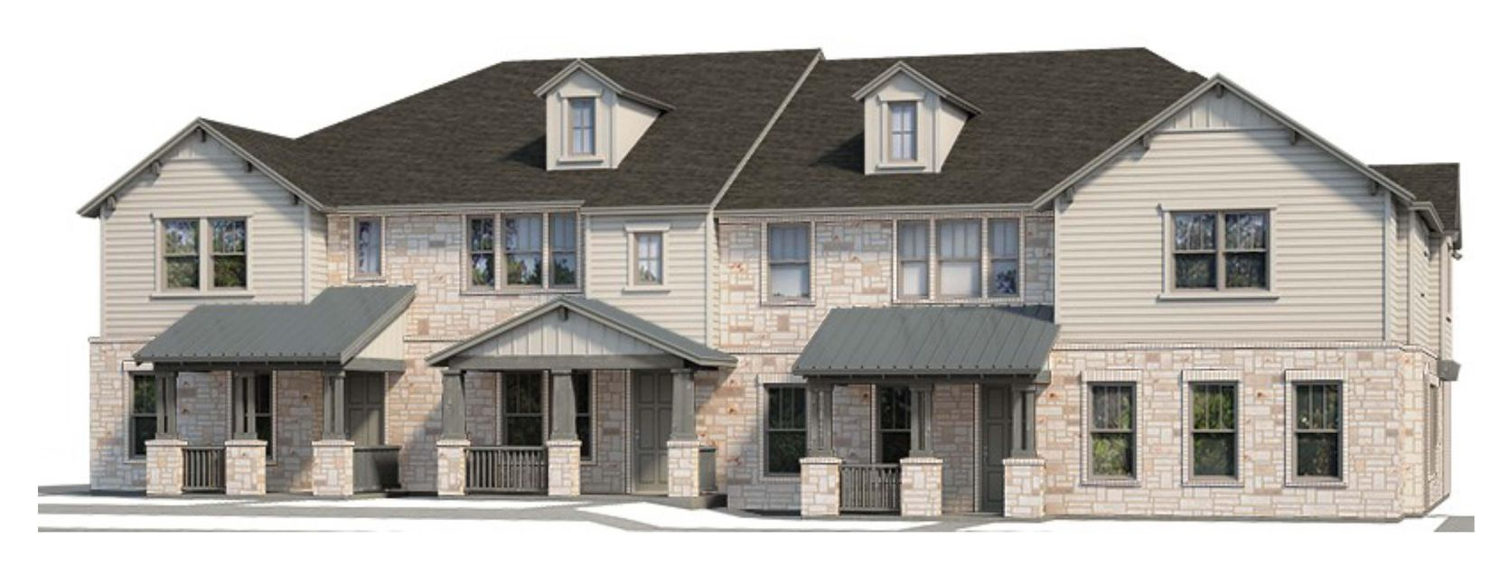 Plano-based builder CB Jeni Homes is building more than 90 townhouses next to one of North Richland Hills' new TexRail stations.