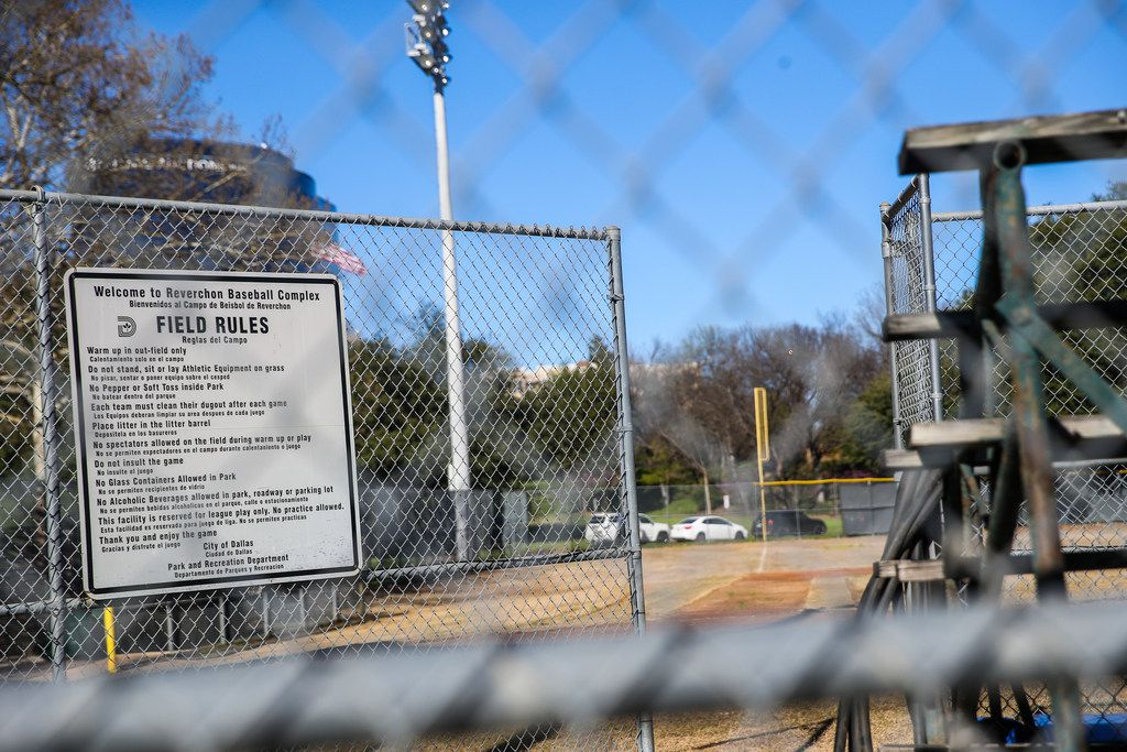 The baseball diamond at Reverchon Park is currently unplayable after city officials waited for a redo that never came.