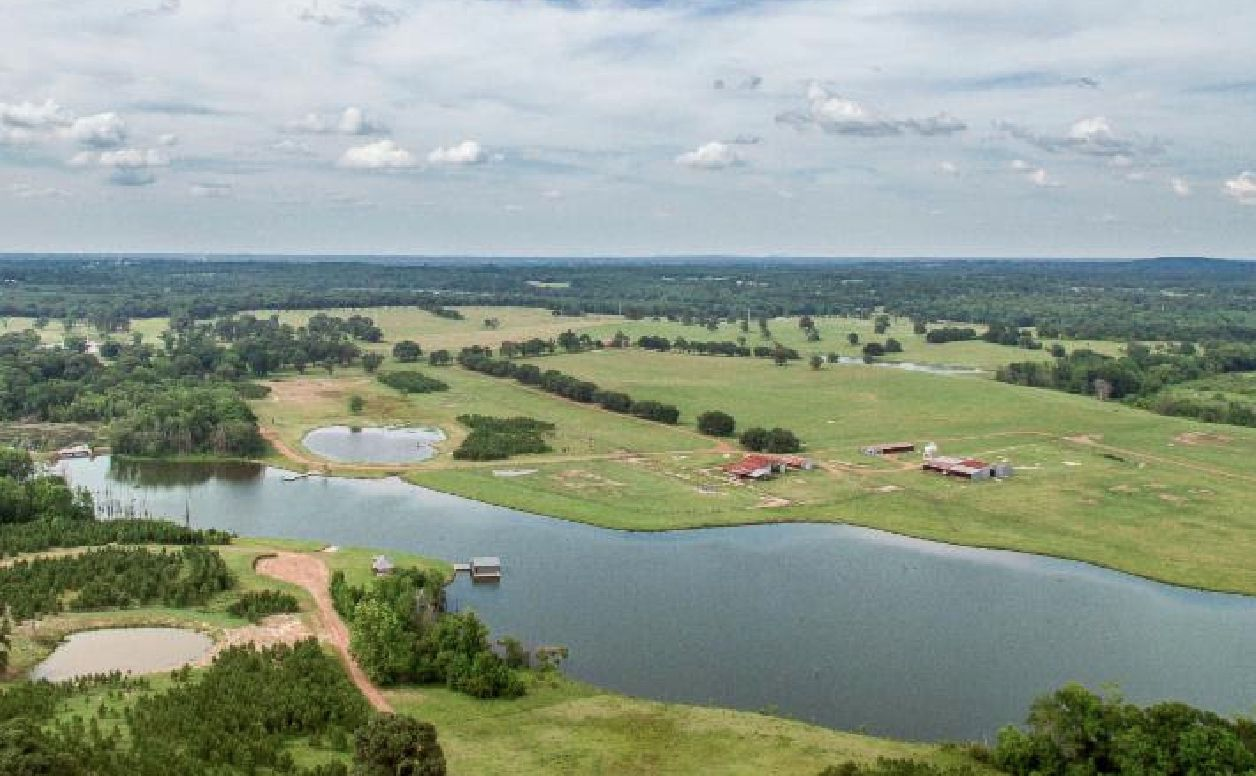 The 1,600-acre Five Creeks Ranch is southeast of Dallas near Athens.
