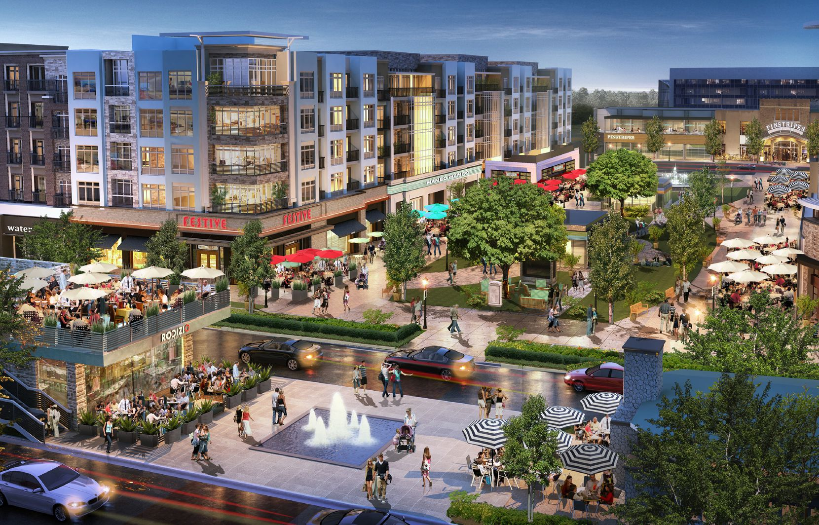 Wade Park is planned as a large mixed-use development along the Dallas North Tollway.