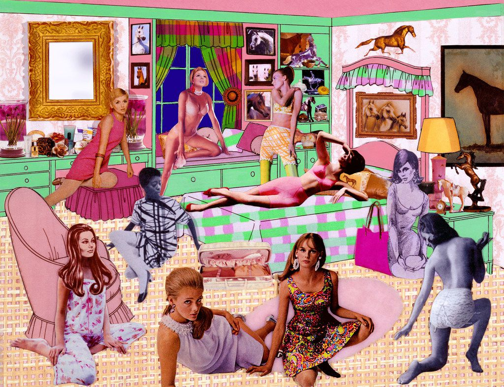 Laurie Simmons 'The Instant Decorator  (Pink and Green Bedroom/Slumber Party/Really Crowded),' 2004