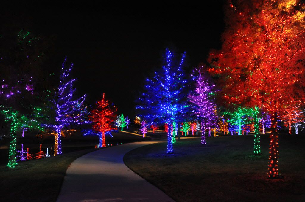 Addison's Vitruvian Park celebrates the holidays with a free festive light display through Jan. 1.