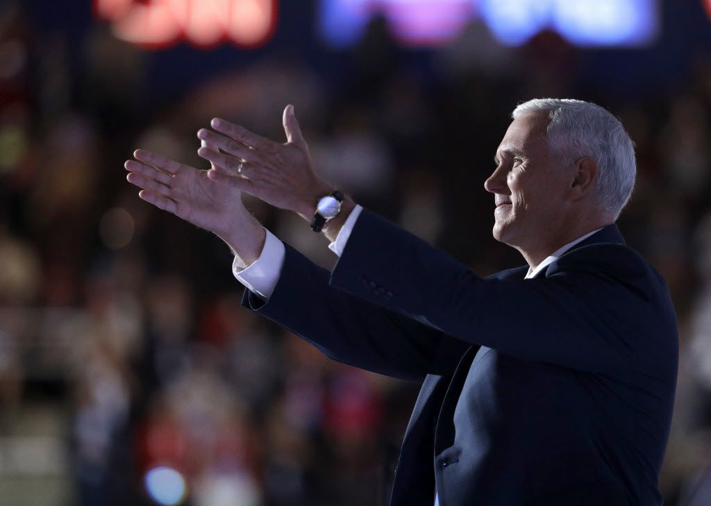 Republican vice presidential nominee Mike Pence of Indiana spoke during the third night of the Republican National Convention in Cleveland.
