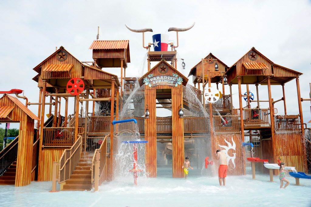 The multi-level interactive kids water structure is the newest addition to Paradise Springs at Gaylord Texan in Grapevine, TX on June 12, 2016. (Alexandra Olivia/ Special Contributor)