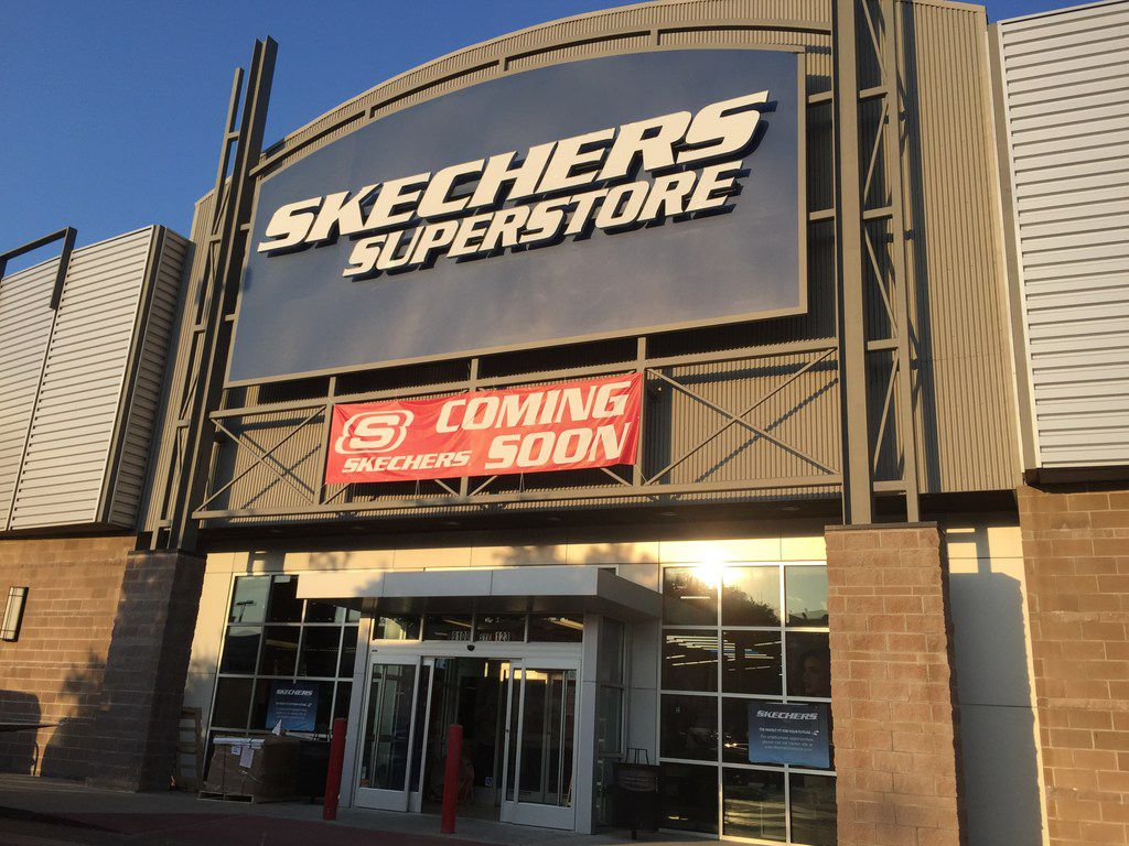Shoe retailer Skechers is opening in part of the former Sports Authority at 9100 N. Central Expressway in Dallas.