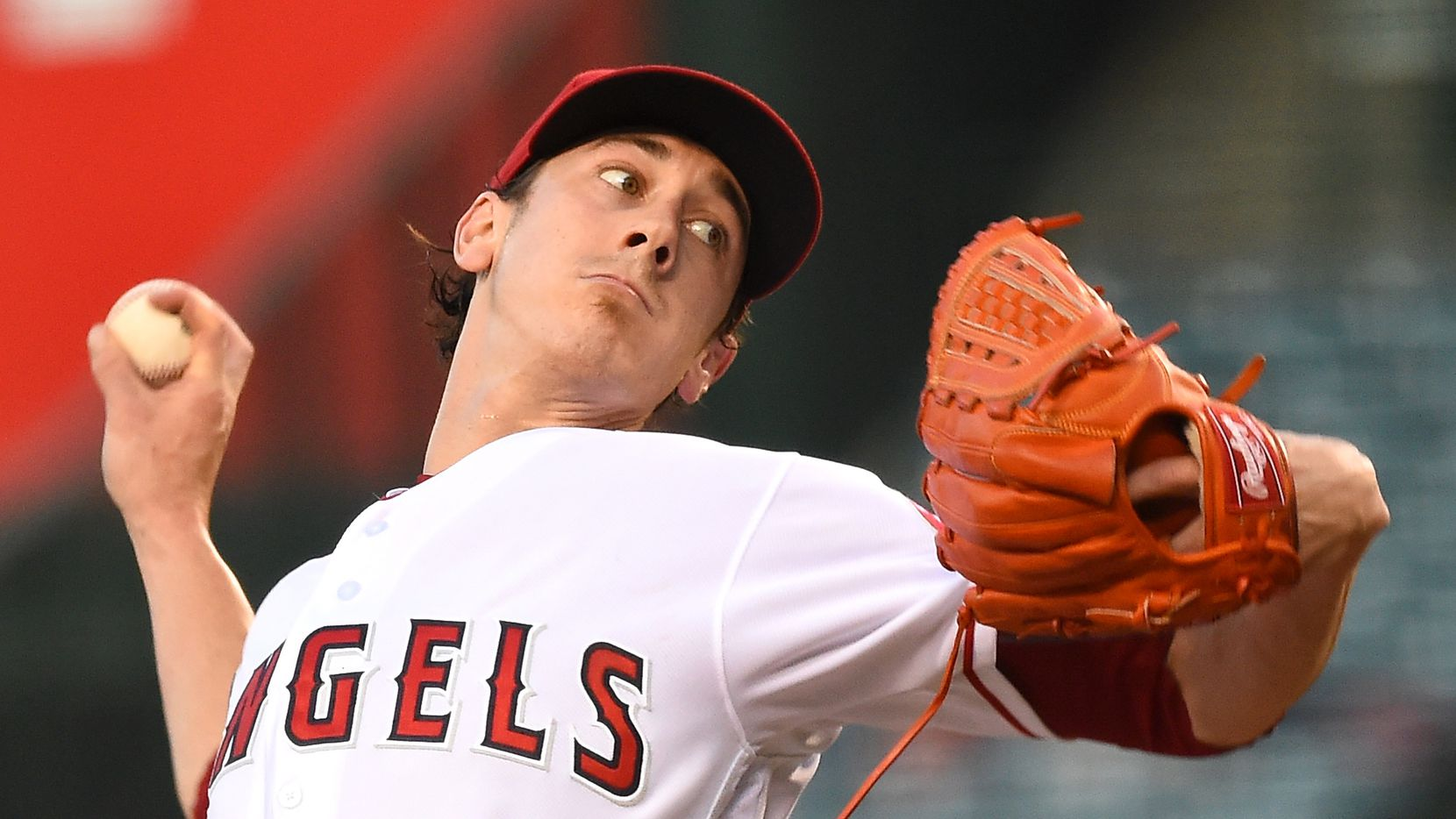 ANAHEIM, CA - JULY 29:  Tim Lincecum (#55) of the Los Angeles Angels is pictured during the second inning of a game against the Boston Red Sox at Angel Stadium of Anaheim on July 29, 2016, in Anaheim, Calif.  (Photo by Jayne Kamin-Oncea/Getty Images)
