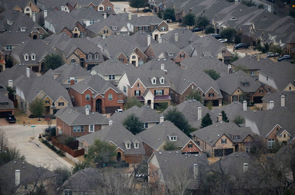 Homes in a neighborhood in southern Dallas.
