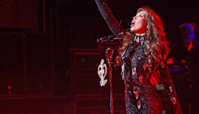Thalía en el Majestic Theatre en Dallas. FOTO ESPECIAL PARA AL Al DÍA: BEN TORRES