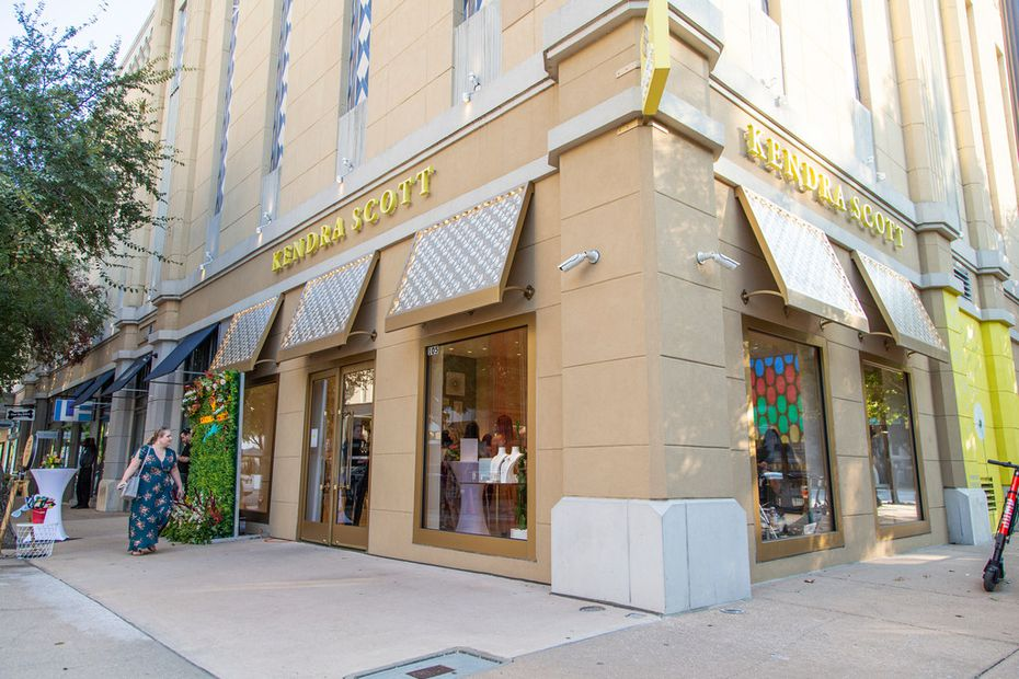 The Kendra Scott jewelry store in the West Village in Dallas.
