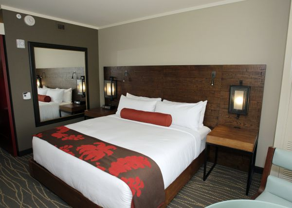 Guest rooms at Deloitte's corporate training campus offer resort-style respite.